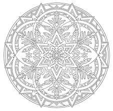 Mandala 738 Creative Haven Snowflake Mandalas Coloring Book Dover