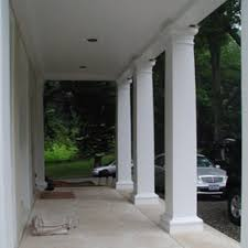 modern square porch columns with decorative fiberglass and posts for remodel 11