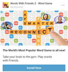 Word With Ad The Ad For Words With Friends Is Playing An Impossible Move Theres