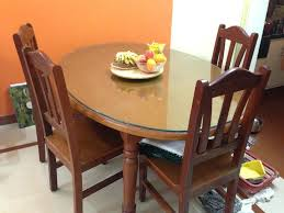 glass top for dining table set 4 chairs india