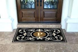4x6 entry rug monogrammed door mat monogram mats front 4 x 6 estate doormats bed bath 4x6 entry rug