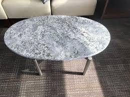 round coffee table granite