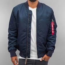 alpha industries jacket er ma 1 vf 59 long in blue men alpha industries peacoat official