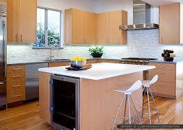 brown modern kitchen cabinet white countertop kitchen backsplash tile