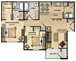 4 Bedroom Luxury Apartment Floor Plans Plan Nice