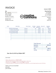 Mac Invoice Template Invoiceplate Numbers Cleaningbill Printed Daycare Cash Receipt