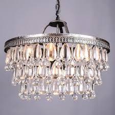vintage style chandelier vintage big glass drops led crystal iron chandeliers pendants modern hanging lamp for