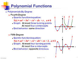 7 10 29 2010 section 3 2 v5 0 7 x y polynomial functions polynomials by degree fourth degree quartic function equation