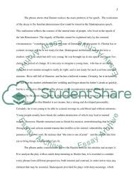 the main idea of the play hamlet by shakespeare essay the main idea of the play hamlet by shakespeare essay example