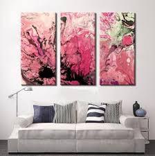 Triptych 5 <b>Piece</b> Canvas Print Pink <b>Abstract</b> Art <b>Abstract</b> | Etsy