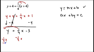 converting point slope to int and standard form you of a line maxresde slope point form
