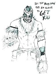 coloring sheets pages raw book kids john books and wwe page c