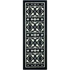 black and white hallway rug black and white rug runner black and white runner rug black and white hallway