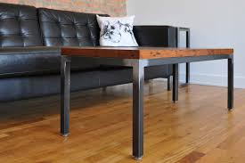 metal and wood furniture. Chicago Custom Steel Furniture Tremont Wood And Metal Coffee Table Uk Recl