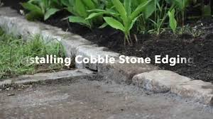 garden pavers for bed edging tips. Installing Cobblestone Edging Garden Pavers For Bed Tips