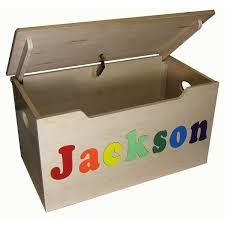 personalized wood toy box numerous finishes picture 1 4
