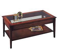 bradley mahogany 875 glass top coffee table