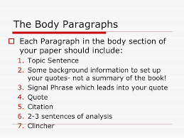 starting to write your literary analysis ms torresani ppt  the body paragraphs  each paragraph in the body section of your paper should include