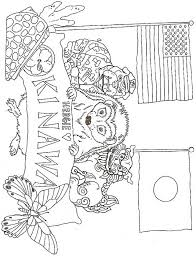 Color the video characters by kids learning tube! Hedgie Loves Okinawa Japan Coloring Page