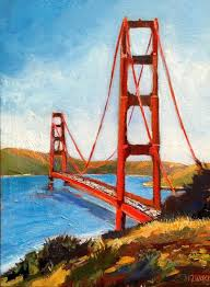golden gate bridge san francisco original by artbymichelezuzalek 250 00