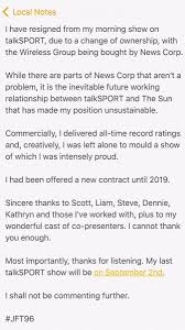 talkSport Presenter Colin Murray Signs Off Resignation Letter With ...