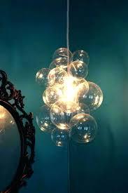 bubble glass chandelier modern