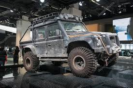 Land Rover Defender Form The Spectre Movie, 24th James Bond Adventure \u2014  Stock Photo O