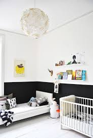 black white color blocking wall paint