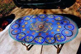 mosaic tile table mosaic tile table top ideas mosaic tile table diy