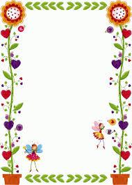 Flower Border Designs For Paper Simple Flower Border Designs For A4 Paper Free Download Clip Art