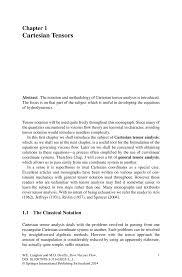 Cartesian Tensors Springer