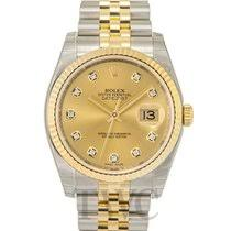 pre owned rolex datejust watches on chrono24 rolex datejust gold steel gold colored steel Ø36 mm 116233