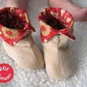 Baby Booties Sewing Pattern Extraordinary How To Sew Baby Booties Free Pattern Babies Toddlers Sewing