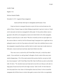 argument essay assignment american dream immigration