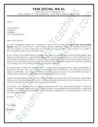social studies teacher cover letter sample principal resume  essay examples