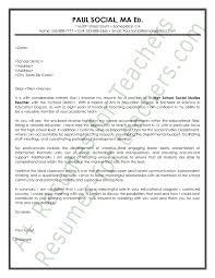 social studies teacher cover letter sample principal resume  social studies teacher cover letter sample