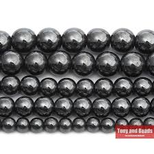 Free Shipping <b>Natural</b> Stone Black Hematite Beads 4 <b>6 8</b> 10 MM 15 ...