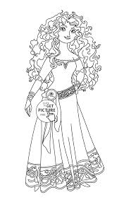 Brave Merida Coloring Page For Kids Disney Princess Coloring Pages
