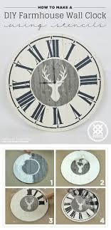 how to make a diy farmhouse wall clock using stencils