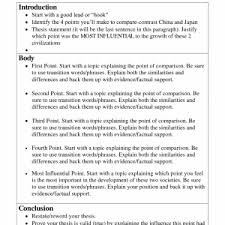 thesis for compare contrast essay example thesis generator and   example of compare contrast essay introduction for a compare and contrast essay resume ideas help