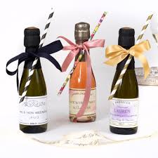 Mini Champagne Bottles Wedding Favors Uk