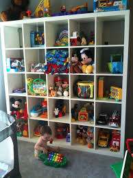 Furniture:Creative Space Saving CD Storage Solution Idea White Open Cabinet  As Toys Storage Idea