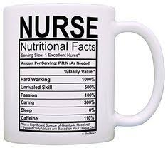 nurse gifts nurse nutritional facts label nursing gift gift coffee mug tea cup white