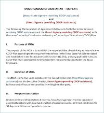 Business Partnership Agreement Sample 5 Mou For Template Filename ...