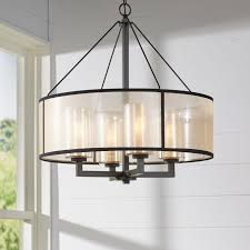 brayden studio dailey 4 light drum chandelier reviews wayfair pertaining to elegant drum chandelier