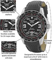 Lighted Dial Watches For Mens Aviator Flight Series Watch For Men Aviators Pilot Writswatch For Mens Leather Strap Stainless Steel Quartztimepiece Waterproof Black Dial Watch