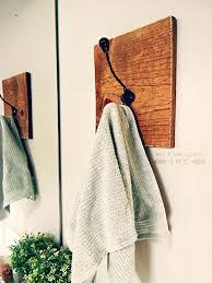 Wood Towel Rack With Hooks Towel Racks For A Chic Bathroom Update