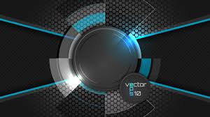 Background Black And Blue Blue With Black Tech Background Vectors Free Download