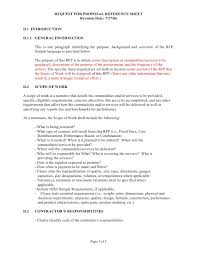 Scope Of Work Proposal Template Sample Scope Of Work 3 Powerful