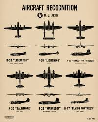 Air Force Aircraft Identification Chart Us Air Force North African Campaign Wwii Spotting Chart Poster Print From The Spotting Chart Project